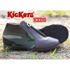 Jual Kickers Kids Zipper Army Baru   Sepatu Anak Laki-Laki Murah