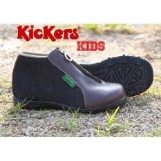 Jual Kickers Kids Zipper Denim Baru   Sepatu Anak Laki-Laki Murah