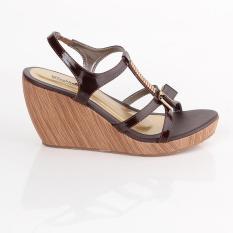 Jual Murah Sandal Wedges Wanita BLACKKELLY - LAN 556  WARNA : COKLAT  BAHAN : PU-PVC