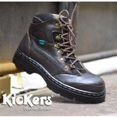 Jual murah sepatu kickers boots safety tracking motor kerja pria