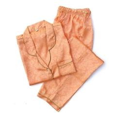 Jual Piyama Mewah Orange Rosy Satin Baju Tidur Pajamas Wanita PSR26 Limited