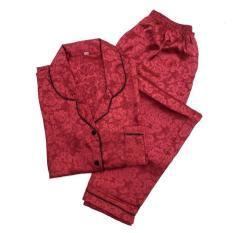 Jual Piyama Mewah Red Merah Rosy Satin Baju Tidur Pajamas Wanita PSR11 Limited