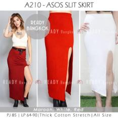 JUAL RUGI SALE PROMO Asos Slit WOMEN MAXI Skirt ROK WANITA HIGH QUALITY IMPORT BANGKOK ALL SIZE