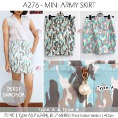 JUAL RUGI SALE PROMO MINI ARMY SKIRT ROK MINI SEPAN BODYCON WANITA HIGH QUALITY IMPORT BANGKOK
