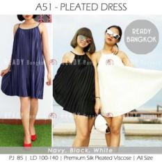 JUAL RUGI!! SALE PROMO Pleated Dress PREMIUM COLLECTION IMPORT BANGKOK WOMEN DRESS HIGH QUALITY