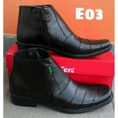 Beli Jual Sepatu Pantofel Boots Pdh Pria Kulit Sapi Asli Kickers Resleting 03 Baru
