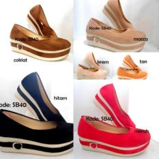 Jual Sepatu Terbaru Platform Wanita SB40 /  Shoes Basic