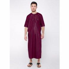 Ulasan Lengkap Jubah Arabi Pakaian Muslim Gamis Pria Al Isra Maroon