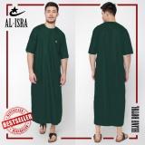 Harga Al Isra Jubah Arabi Pakaian Muslim Gamis Pria Tangan Pendek Hijau Botol Original