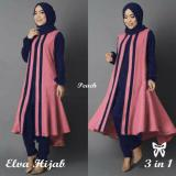 Dimana Beli Lf Jubah Atasan Elvi Hijab Muslim Tunik Gaun Jumpsuit Muslim Baju Syari Syar I 3 In 1 Vael Ss Peach D2C Syar I