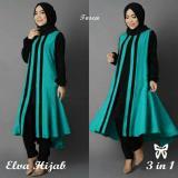 Jual Lf Jubah Atasan Elvi Hijab Muslim Tunik Gaun Jumpsuit Muslim Baju Syari Syar I 3 In 1 Vael Ss Tosca D2C Lengkap