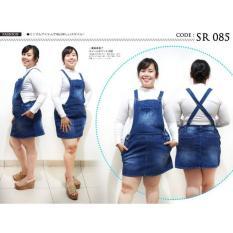 Jumbo 5Xl Overall Jeans Rok Sr085-Rok Kodok Pendek Jumbo - Synr2t