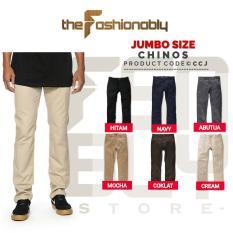 Beli Jumbo Size Celana Chino Pants Pria Slim Fit Premium Quality No Brand Murah