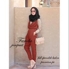 Promo Jumpsuit Overall Jersey Farida Arum3In1 Ds Fashion Terbaru
