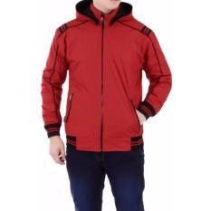 Just Cloth Jaket Parasut Sport Hoodie Waterproof Bolak Balik