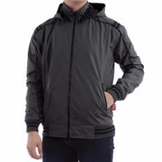 Harga Just Cloth Jaket Parasut Sport Hoodie Waterproof Bolak Balik Branded