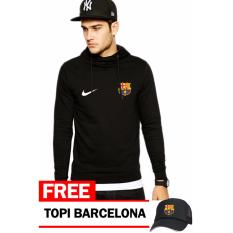 Jual Just Cloth Jaket Pullover Barcelona Free Topi Barcelona Hitam Original