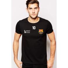 Just Cloth T-shirt Football Messi Barcelona La Blaugrana - Hitam