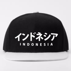 Just Cloth Topi Snapback Kanji Japan Indonesia - Hitam Putih