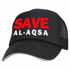 Just Cloth Topi Trucker Save Al-Aqsa Palestine - Hitam