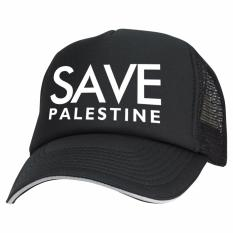 Just Cloth Topi Trucker Save Palestine - Hitam