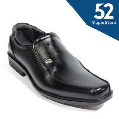 Harga Justine Fantofel Shoes Men Ja 980 Black Size 40 44 Asli