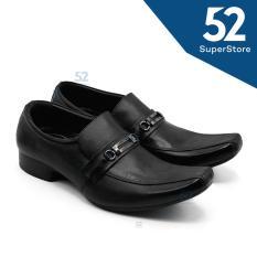 Harga Justine Sepatu Pantofel Pria Tr 81 Black Paling Murah