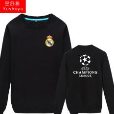 Juventus Liga Champions Baju Sepak Bola Sweter Tanpa Kancing Kaos Sweater (Nyata Madrid Nyata Madrid Hitam)
