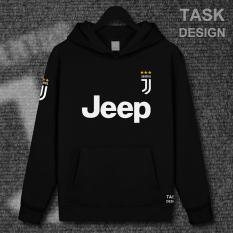 Jual Juventus Tambah Beludru Serie A Laki Laki Berkerudung Kaos Sweater Rumah Baju Bola Berkerudung Hitam