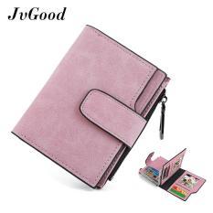 Beli Jvgood Fashion Lady Womens Kecil Mini Blocking Clutch Kulit Bi Fold Dompet Koin Dompet Pemegang Kartu Organizer Hangbag Bag Pendek Dompet Dengan Saku Ritsleting Pink Baru