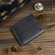 Diskon Jvgood Pendek Dompet Kulit Pria Leather Wallet Man Wallet Mini Short Purse Bifold Men Fashion Tas Coin Bag Pria Dompet Pemegang Kartu Jvgood