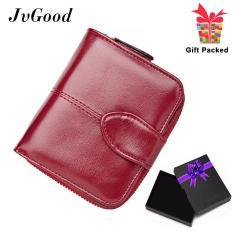 Jvgood Oil Wax Pu Leather Women Short Wallets Zipper Small Wallet Coin Pocket Credit Card Holder Handbag Female Purse Money Clip Intl Jvgood Diskon 30