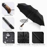 Jual Beli Jvgood Travel Umbrella 10 Ribs Outdoor Umbrella Finest Windproof Rain Umbrella With Teflon Coating Auto Open Close And Upgraded Comfort Handle Baru Tiongkok