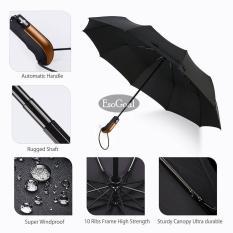 Review Toko Jvgood Travel Umbrella 10 Ribs Outdoor Umbrella Finest Windproof Rain Umbrella With Teflon Coating Auto Open Close And Upgraded Comfort Handle