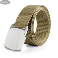 Tips Beli Jvgood Ikat Pinggang Pria Sabuk Men S Canvas Ikat Pinggang Metal Buckle Solid Belt Yang Bagus