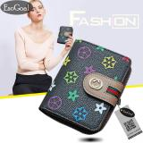 Harga Jvgood Women Leather Credit Card Wallet Holder Mini Purse Zip Trifold Clutch Pocket Wallet Card Case Terbaik
