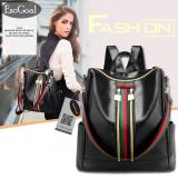 Jual Jvgood Women Lightweight Leather Strip Backpack Purse Versatile Shoulder Bag With Shoulder Straps Di Tiongkok