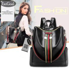Jual Jvgood Women Lightweight Leather Strip Backpack Purse Versatile Shoulder Bag With Shoulder Straps Tiongkok