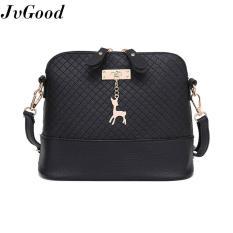 Jual Beli Online Jvgood Fashion Tas Kurir Wanita Mini Tas Kecil Dengan Rusa Shell Dompet Tote Bag Tas Kulit Casual Shoulder Bags Hitam
