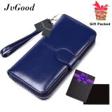 Ulasan Lengkap Jvgood Women Wallet Dollar Price Lady Party Pu Leather Purse Wallet Female Wax Oil Skin Long Zipper Wallet Bills Cion Purse