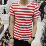 Harga Jvi Kaos Pria Lengan Pendek Bahan Polyester Kerah Bulat Motif Garis Gaya Jepang Dt09 Garis Merah Merk Oem