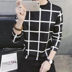 Harga Jaket Pullover Kaos Oblong Pria Versi Korea Kotak Hitam Original