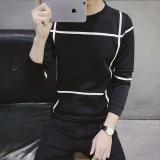 Jual Jvr Kaos Pria Bahan Polyester Kerah Bulat Motif Geometris Gaya Korea Sweater 31 Hitam Oem Branded