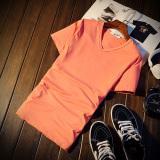 Dapatkan Segera Jvr Kaos Pria Lengan Pendek Bahan Polyester Kerah Bulat Gaya Korea Warna Hitam Putih V Neck Chunhong