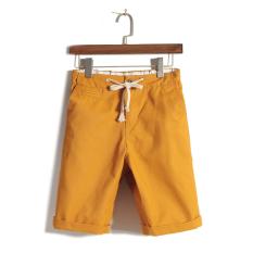 JVR Korea Fashion Style Katun Pria Celana Pendek Kasual Celana Selutut (Oranye)