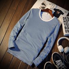 Beli Jvr Korea Fashion Style Musim Semi Model Muda Bergaris Lengan Panjang T Shirt Ct12 3 Cm Bar Biru Ct12 3 Cm Bar Biru Terbaru