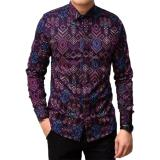 Review K Exclusive Kemeja Batik Songket Lengan Panjang Slimfit Purple K Exclusive