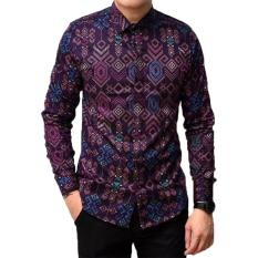 Harga K Exclusive Kemeja Batik Songket Lengan Panjang Slimfit Purple K Exclusive Baru
