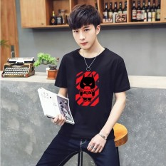 K1119 T-shirt Pria Lengan Pendek Leher Fashion, Lengan Setengah, Big Kode Tide Kaos Bermerk Kaos-International