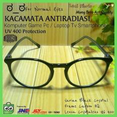Kacamata Normal Bulat Antiradiasi Hp/Komputer/Gaming/Game/Anti Radiasi - Vyeuse